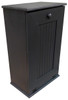 Large Kitchen Tilt Out Wood Trash Can Handmade in Pine (Black Solid Look)