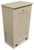 Large Kitchen Tilt Out Wood Trash Can Handmade in Pine (Cream Solid look)