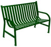 Witt Industries Oakley Outdoor Slatted Bench 4 Foot Green