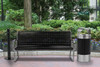 in The Park with Matching Riverview Trash Can and Smokers Outpost Smokers Pole