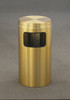 Brass Flat Top Trash Can w/Plastic Liner C1566BE