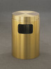 Brass Flat Top Trash Can w/Plastic Liner C2066BE