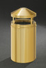 All Weather Brass Glaro Canopy Top Waste Receptacle