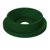 Funnel Top Trash Can Lid with 5 Inch Opening for 55 Gallon Drums S8340-01 GREEN