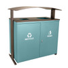 90 Gallon Ellipse Dual Recycling Bin RGU-3645 MAL/BRZX GREEN