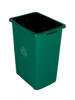 27 Gallon Extra Large Home & Office Recycling Bin Green
