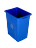 24 Gallon Extra Large Home & Office Recycling Bin Blue