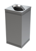 35 Gallon Square Stainless Steel Trash Can Precision Series 785329