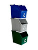 Stackable Multi Recycler 3 Pack 101375 (Blue, Gray, Green)