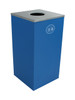 24 Gallon Steel Spectrum Cube Square Bottles & Cans Collector Blue 8107037-1