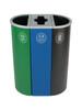 26 Gallon Spectrum Triple Recycling Station Green/Blue/Black 8107111-424