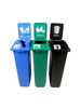 69 Gallon Simple Sort Skinny Recycling Station 8106053-244 (Mixed, Compost, Waste Openings)