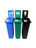 69 Gallon Simple Sort Skinny Recycling Station 8106059-144 (Cans, Compost, Waste)