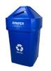 45 Gallon The Burly Indoor Outdoor Recycle Bin 8002819 (Blue, Paper)