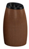 20 Gallon Garden Series Plastic Faux Wood Waste Container 756141