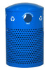 40 Gallon Perforated Recycling Receptacle for Cans Bottles RC-2441 CANS RBL