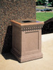 24 Gallon Concrete Pitch In Top Outdoor Waste Container TF1022 Outside Weatherstone Sand