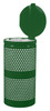 Perforated Trash Can in Hunter Green Gloss