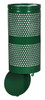 Excell Landscape Outdoor Drop Bottom Trash Can WR690 in Hunter Green Gloss