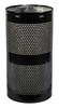 Excell Landscape Outdoor Perforated Trash Can WR22 in Black Gloss