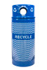 34 Gallon Perforated Recycling Receptacle for Cans/Bottles RC-34R DM CANS RBL