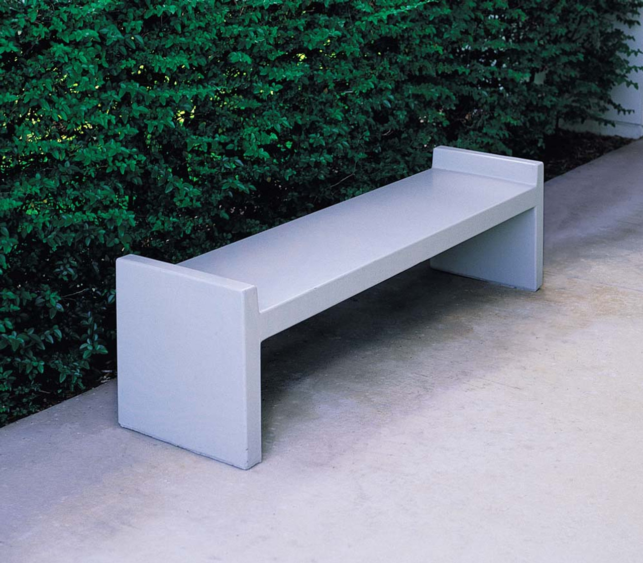 6 Foot Indoor Outdoor Concrete Park Bench TF5025 Outside