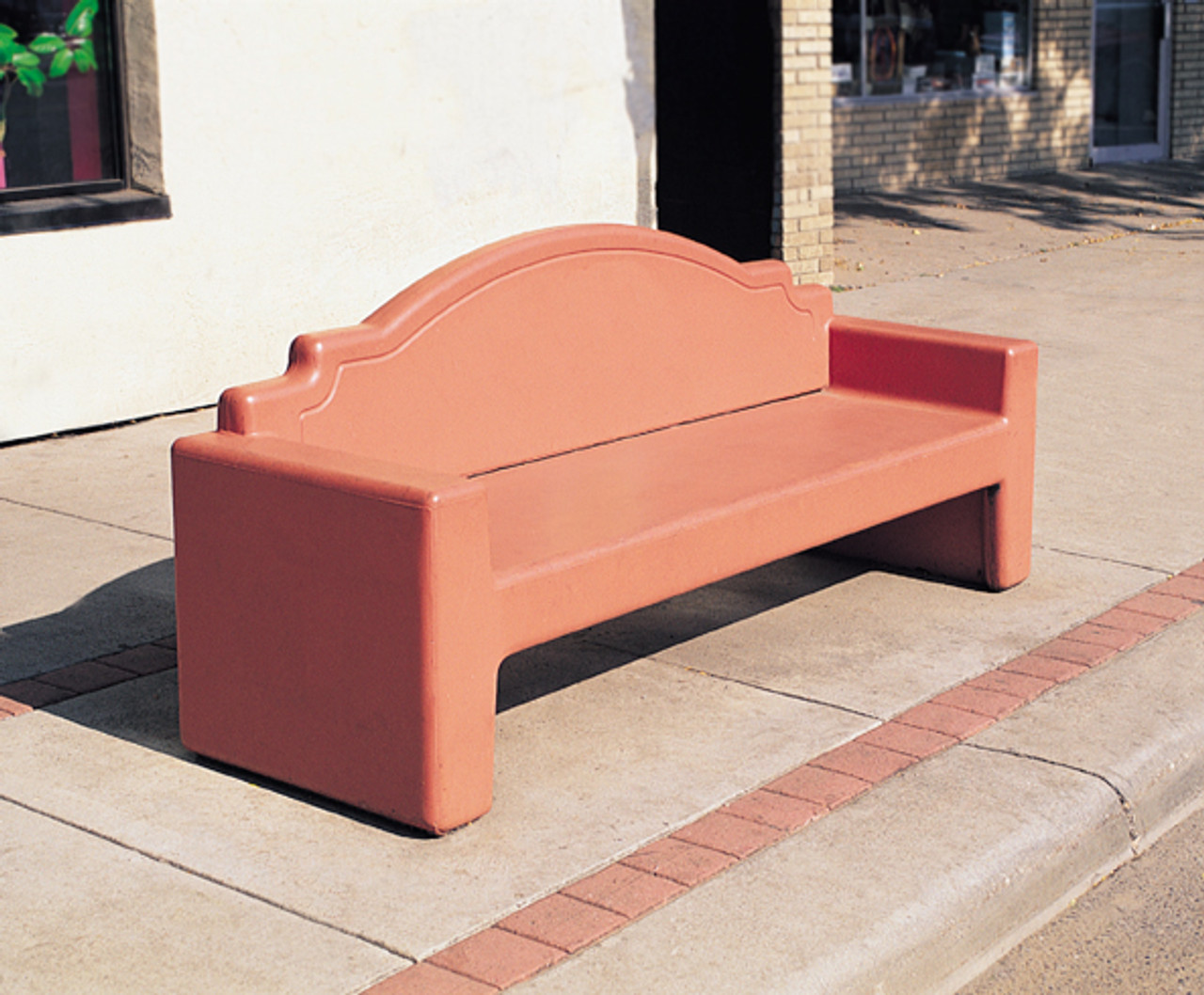 7 Foot Outdoor Concrete Park Bench with Back TF5065 Outside