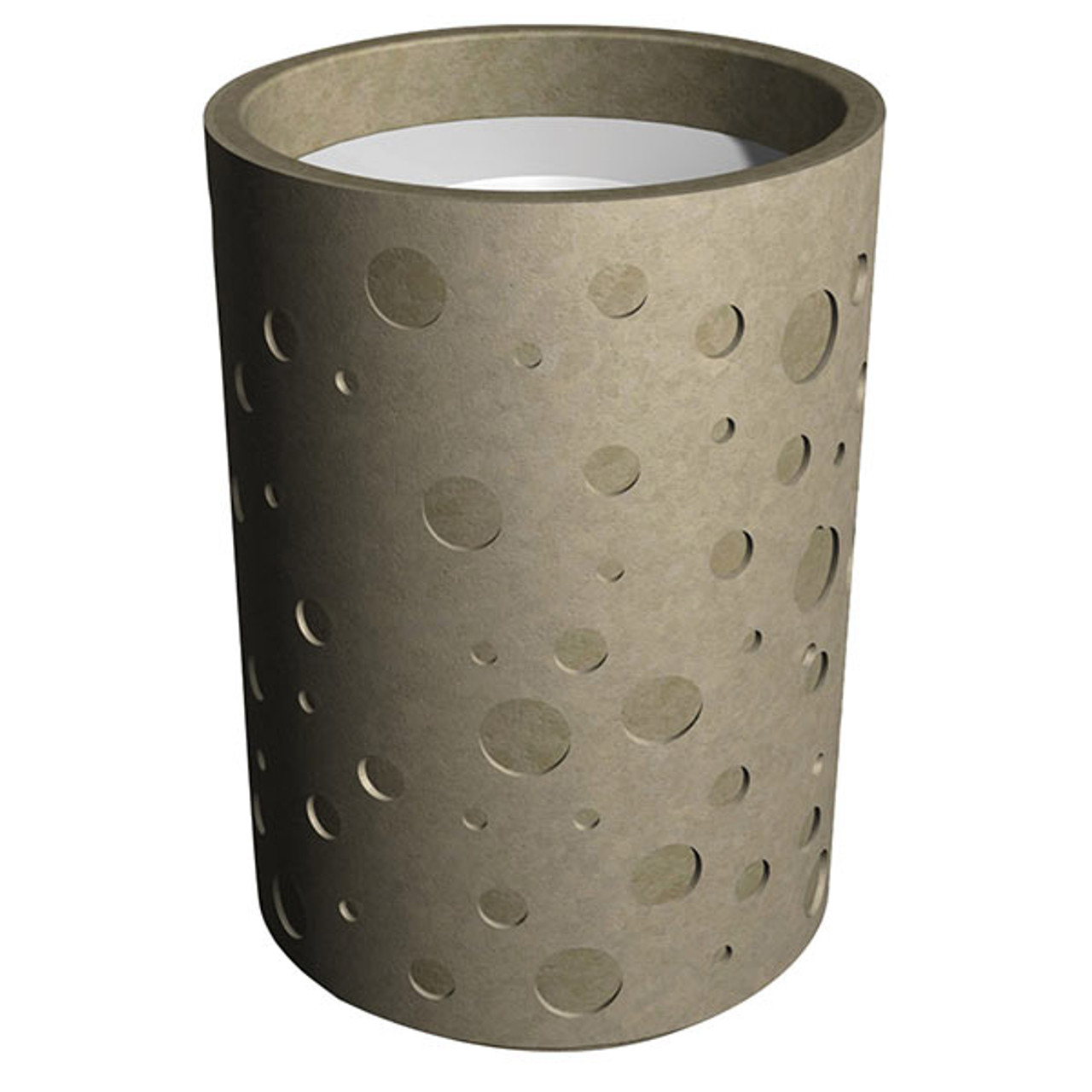 31 Gallon Decorative Concrete Outdoor Trash Receptacle WS100