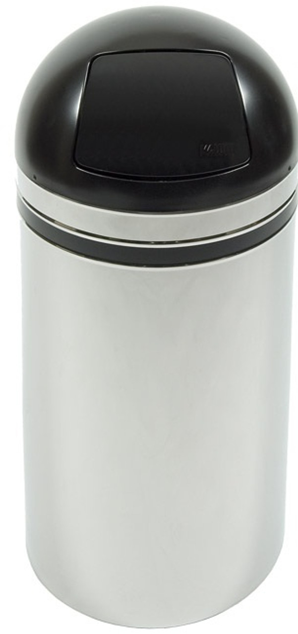 Monarch 15 Gallon Push Door Waste Receptacle 15DT44 Chrome