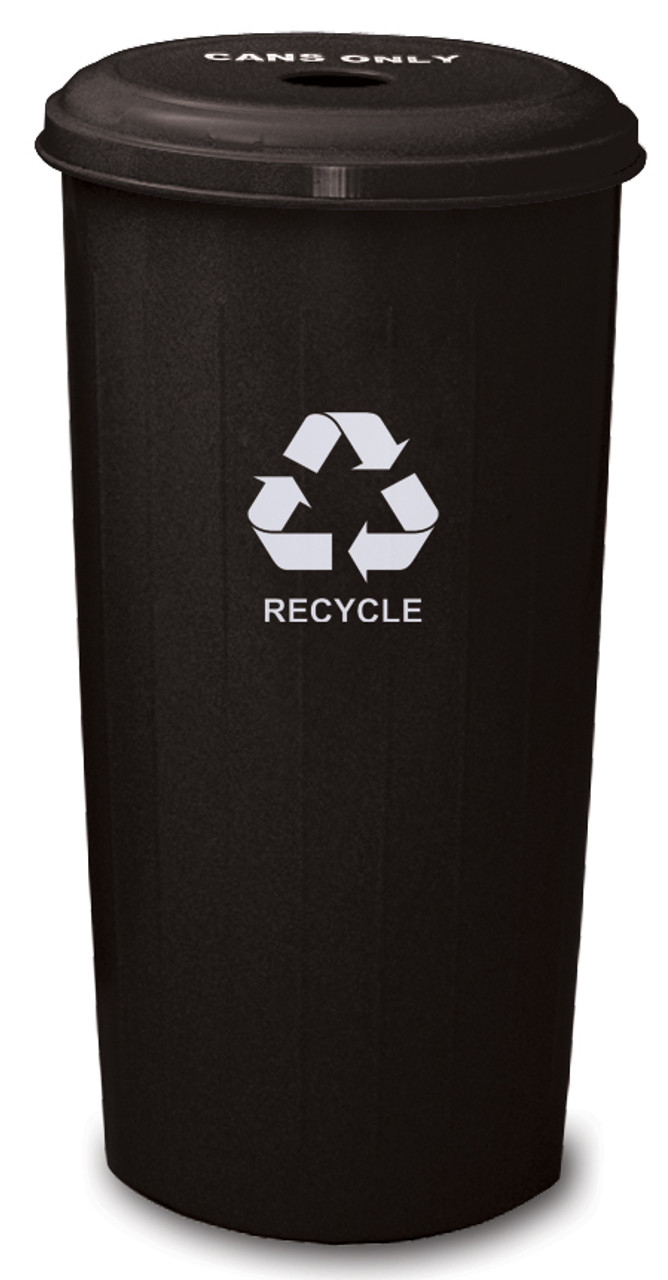 Metal 20 Gallon Can or Paper Collector Recycling Bin Black Cans Only