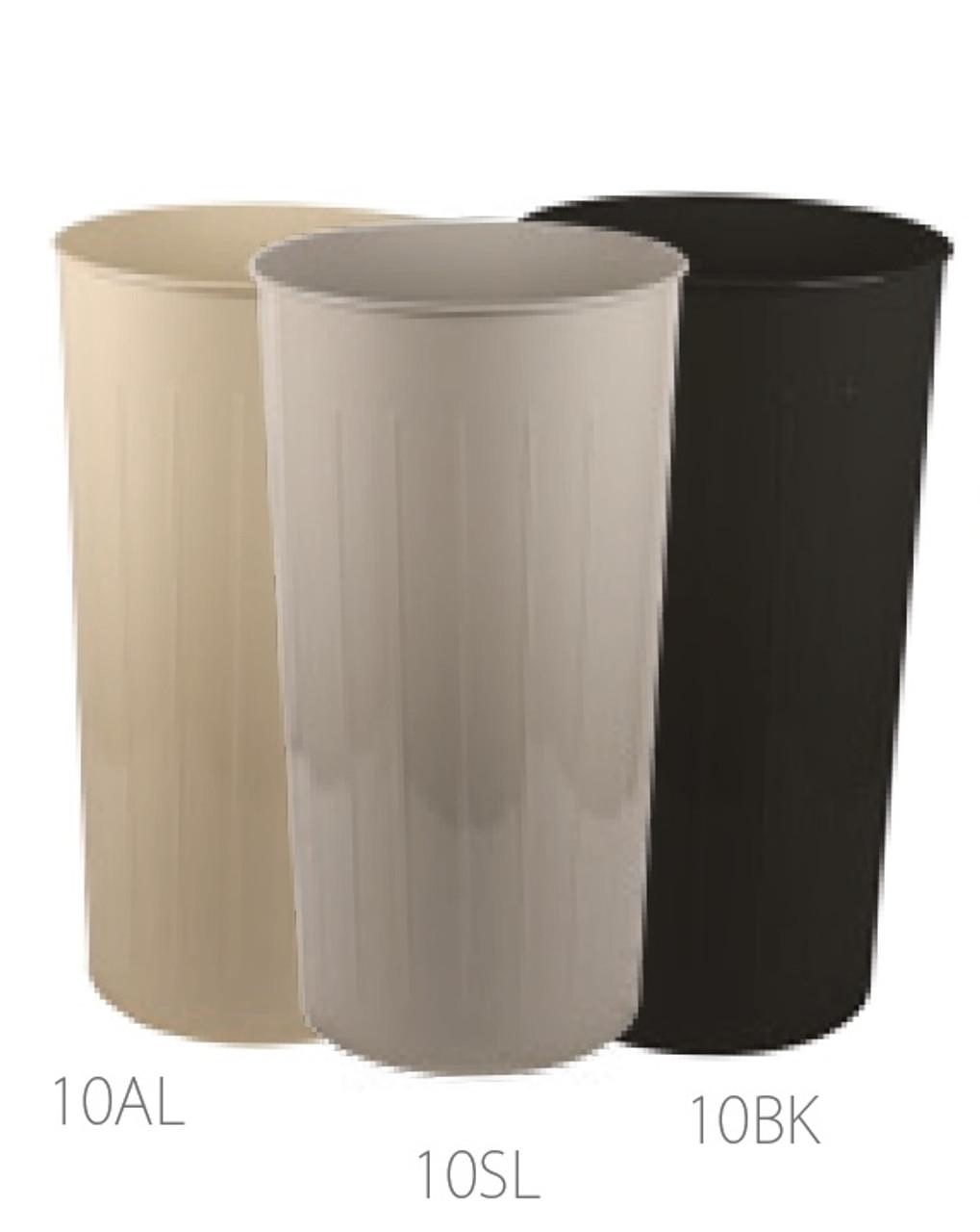 80 Quart Witt Industries Round Metal Wastebaskets