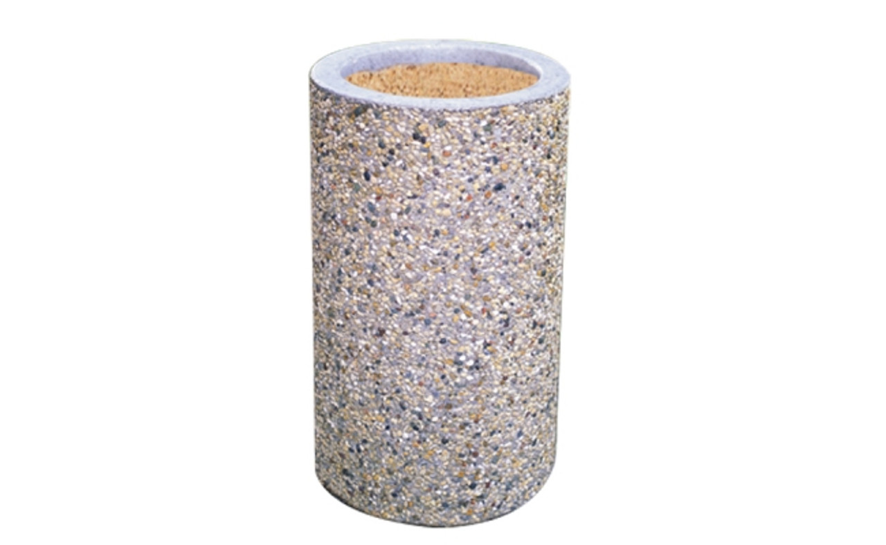 Concrete Ash Urn Outdoor Ashtray Cigarette Smokers Receptacle TF2000 E23