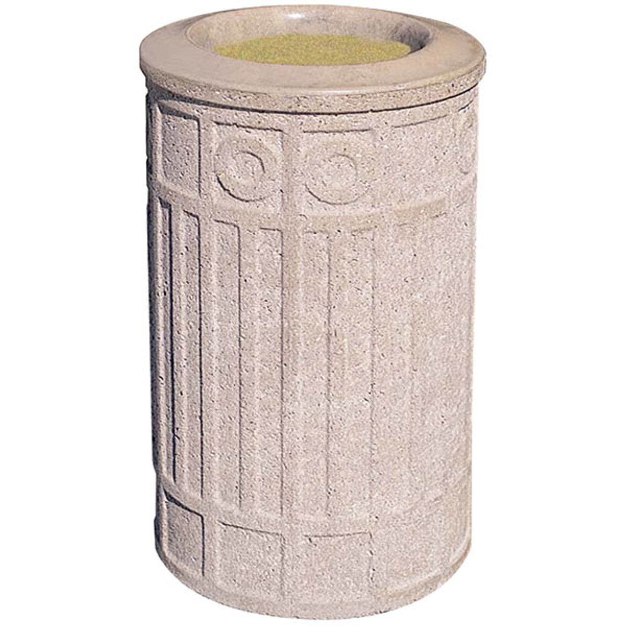 Concrete Ash Urn Outdoor Ashtray Smokers Receptacle WS2006