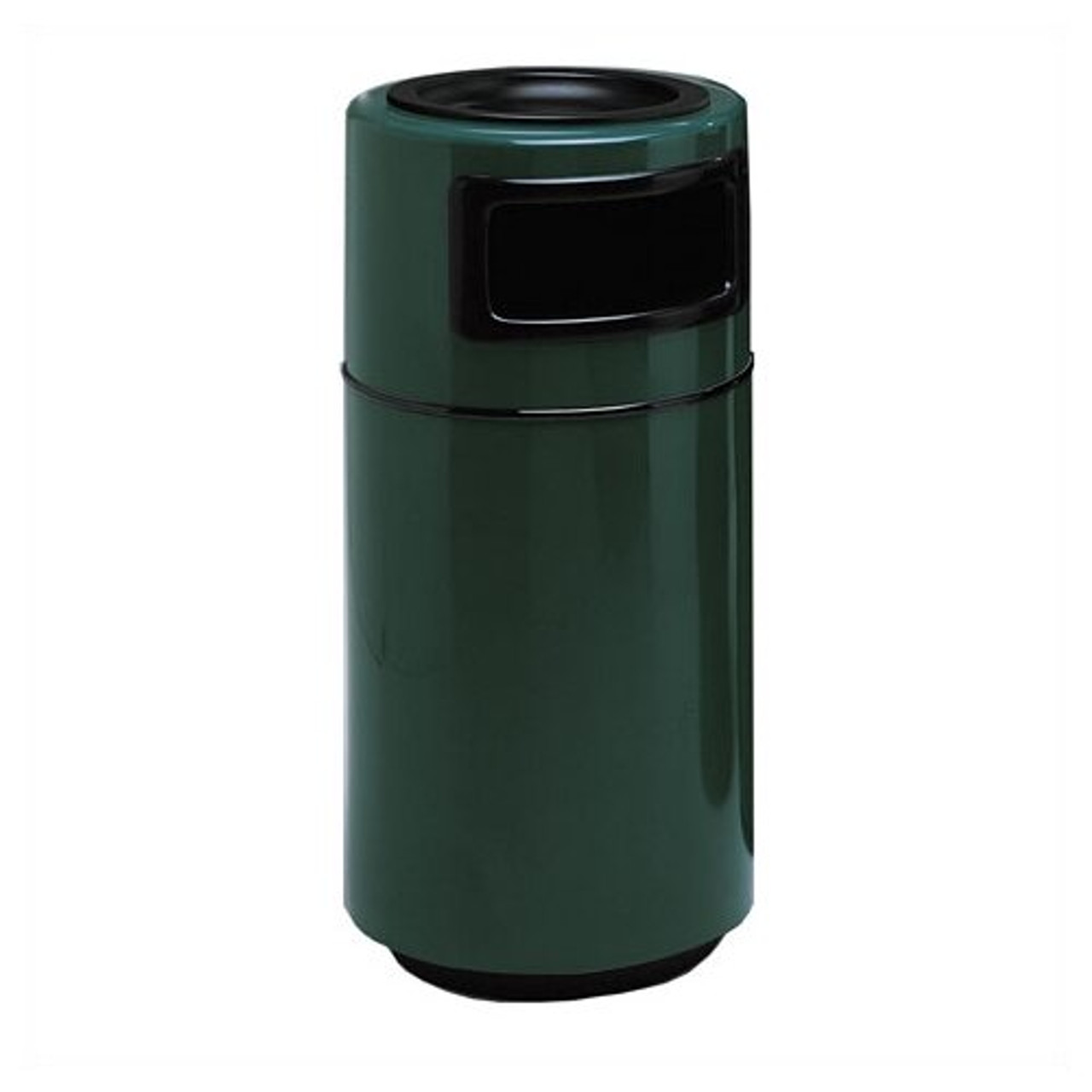 25 Gallon Side Entry Round 7C1838T Fiberglass Waste Receptacle with Ashtray