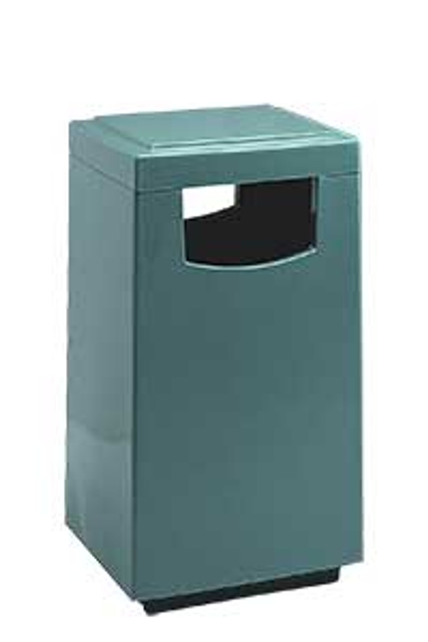30 Gallon Side Entry 7S2040T Square Fiberglass Trash Can