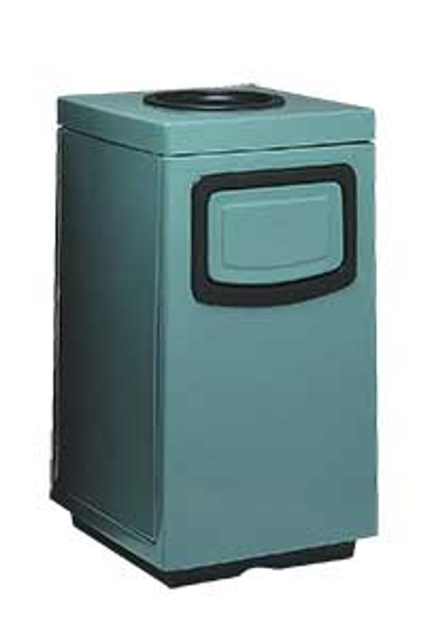 45 Gallon Side Entry 7S2444TA Square Fiberglass Ash Trash Can