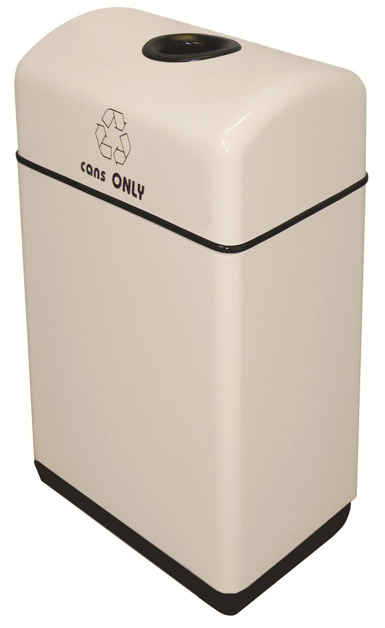 11 Gallon Fiberglass 1 Opening Recycle Bin with Plastic Liner 11RR-121631 (35 Colors)