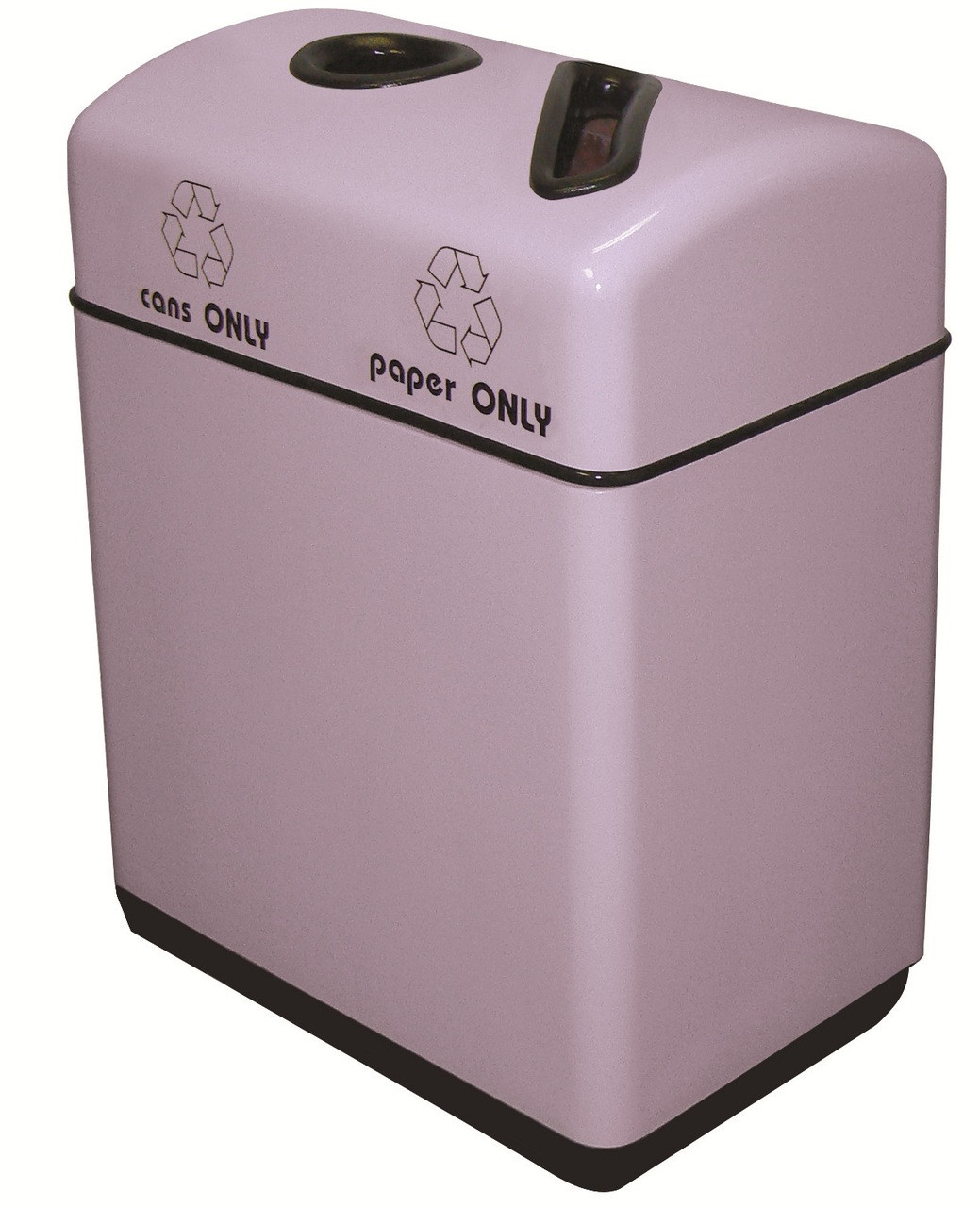 22 Gallon Fiberglass 2 Opening Recycle Bin with Plastic Liner 11RR-241631 (35 Colors)