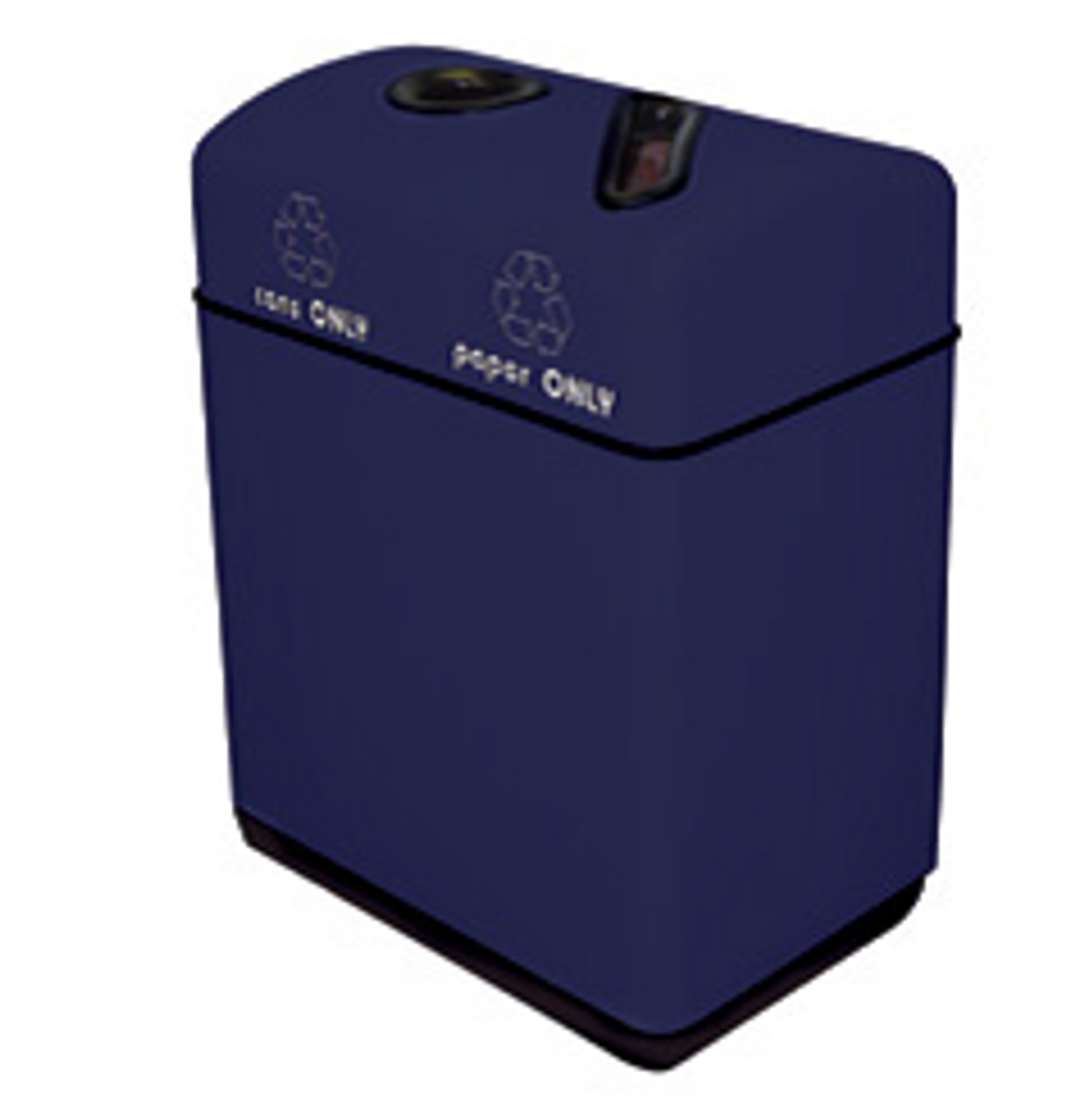 24 Gallon Fiberglass Two Opening Recycling Bin