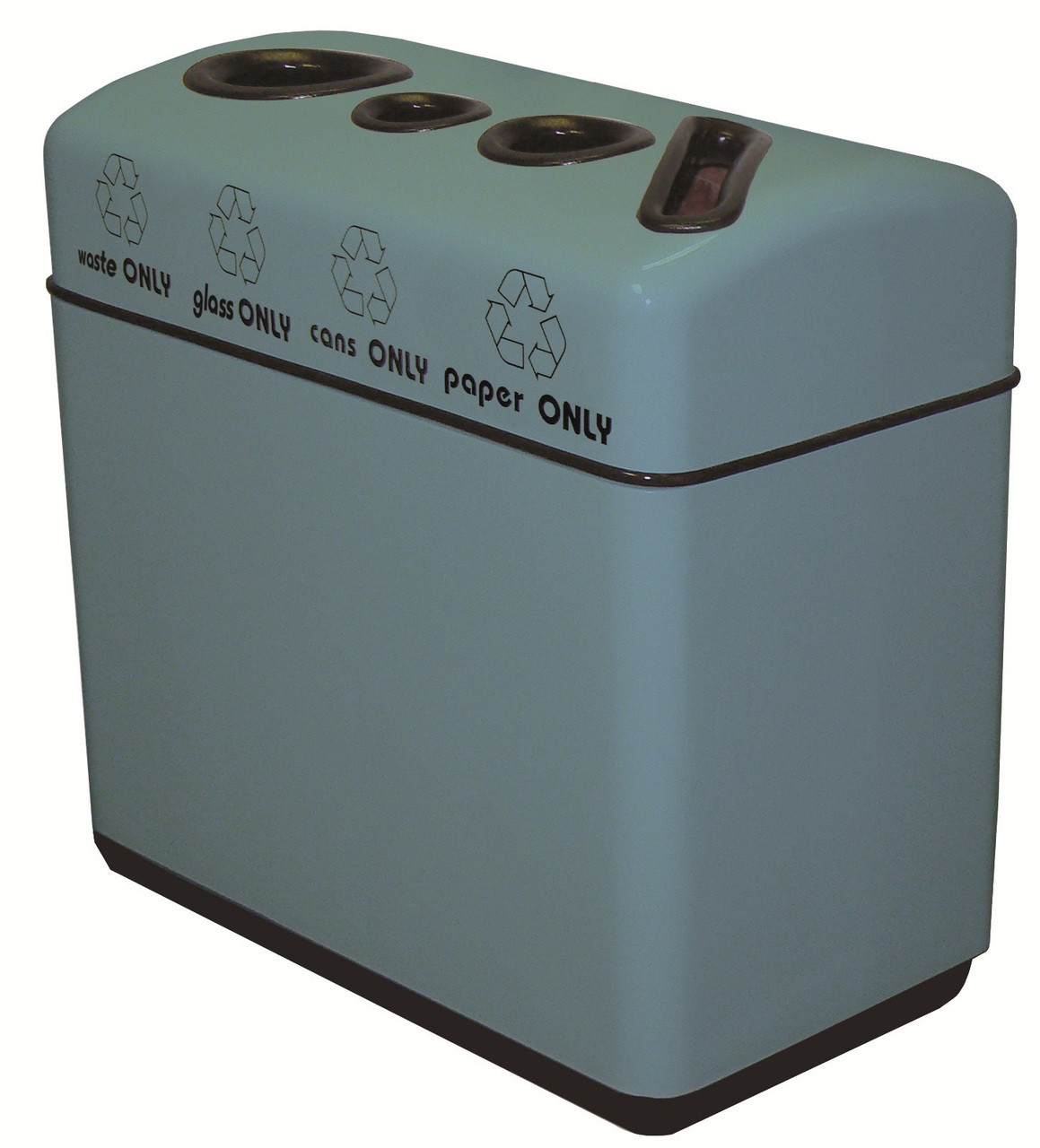 44 Gallon Fiberglass 4 Opening Recyce Bin with Plastic Liner 11RR-481631 (35 Colors)