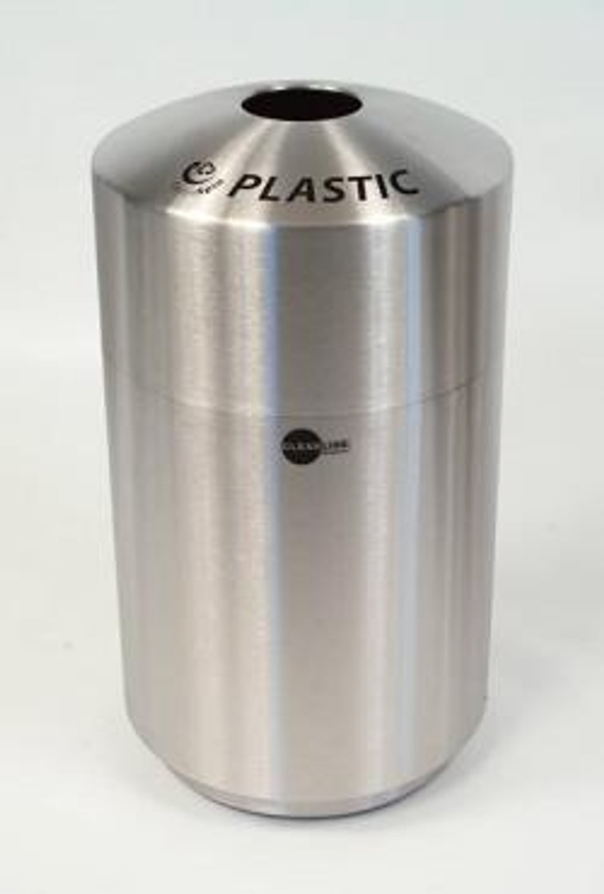 Cleanline 39 Gallon Stainless Steel Top Load Trash Can for Plastic