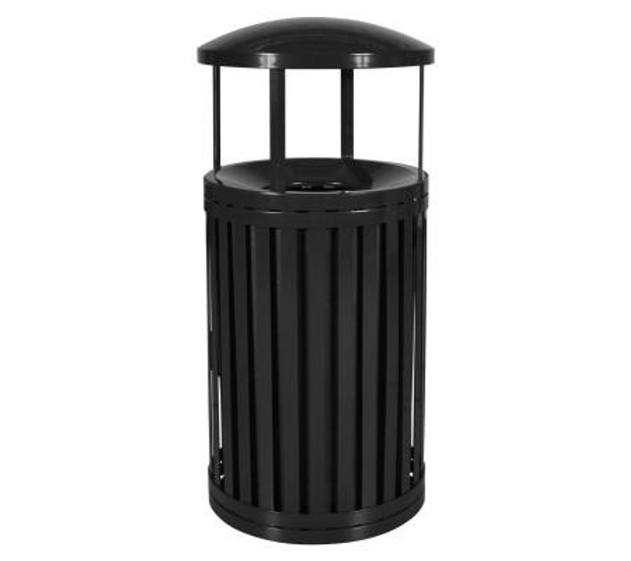 Hampton 45 Gallon Outdoor Side Gate Or Top Opening Trash Can with Rain cap