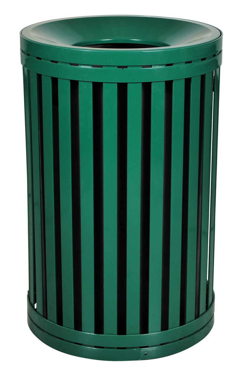 Hampton 45 Gallon Outdoor Side Gate Or Top Opening Trash Can Green