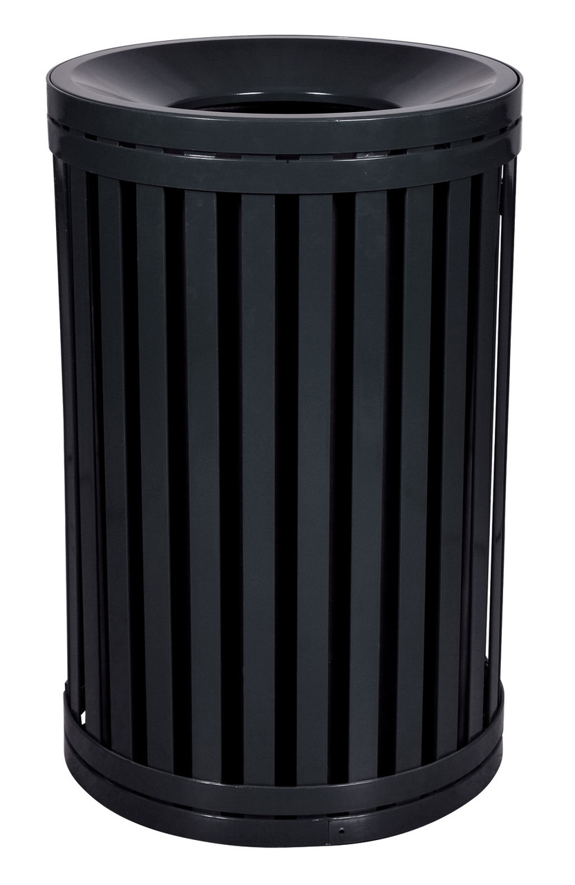 Hampton 45 Gallon Outdoor Side Gate Or Top Opening Trash Can Black