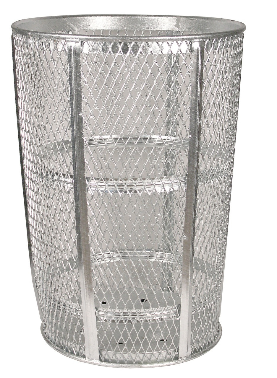 Witt Industries 48 Gallon Metal Mesh Street Park Trash Receptacle Hot Dipped Galvanized