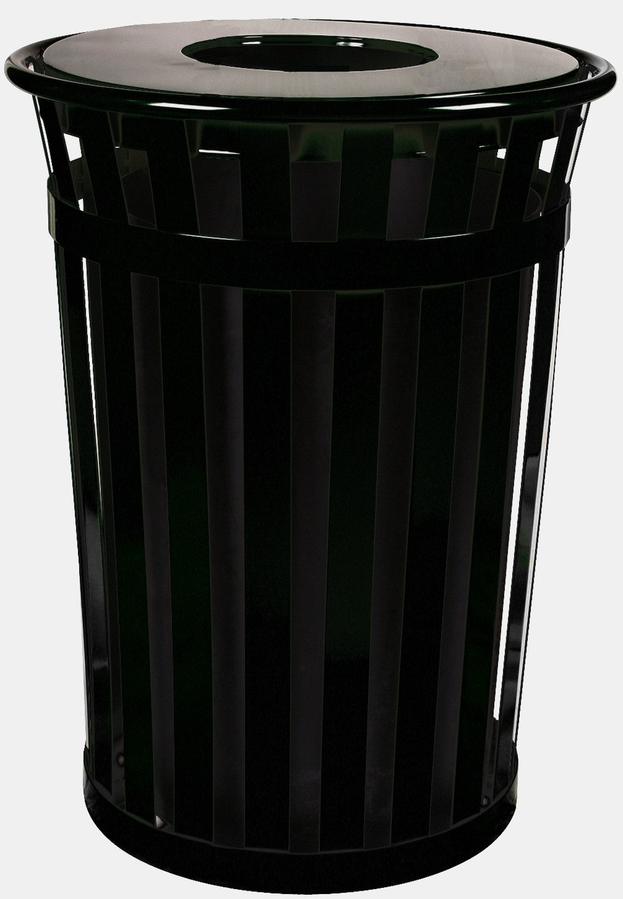 36 Gallon Oakley M3601-FT-BK Outdoor Waste Receptacle Black