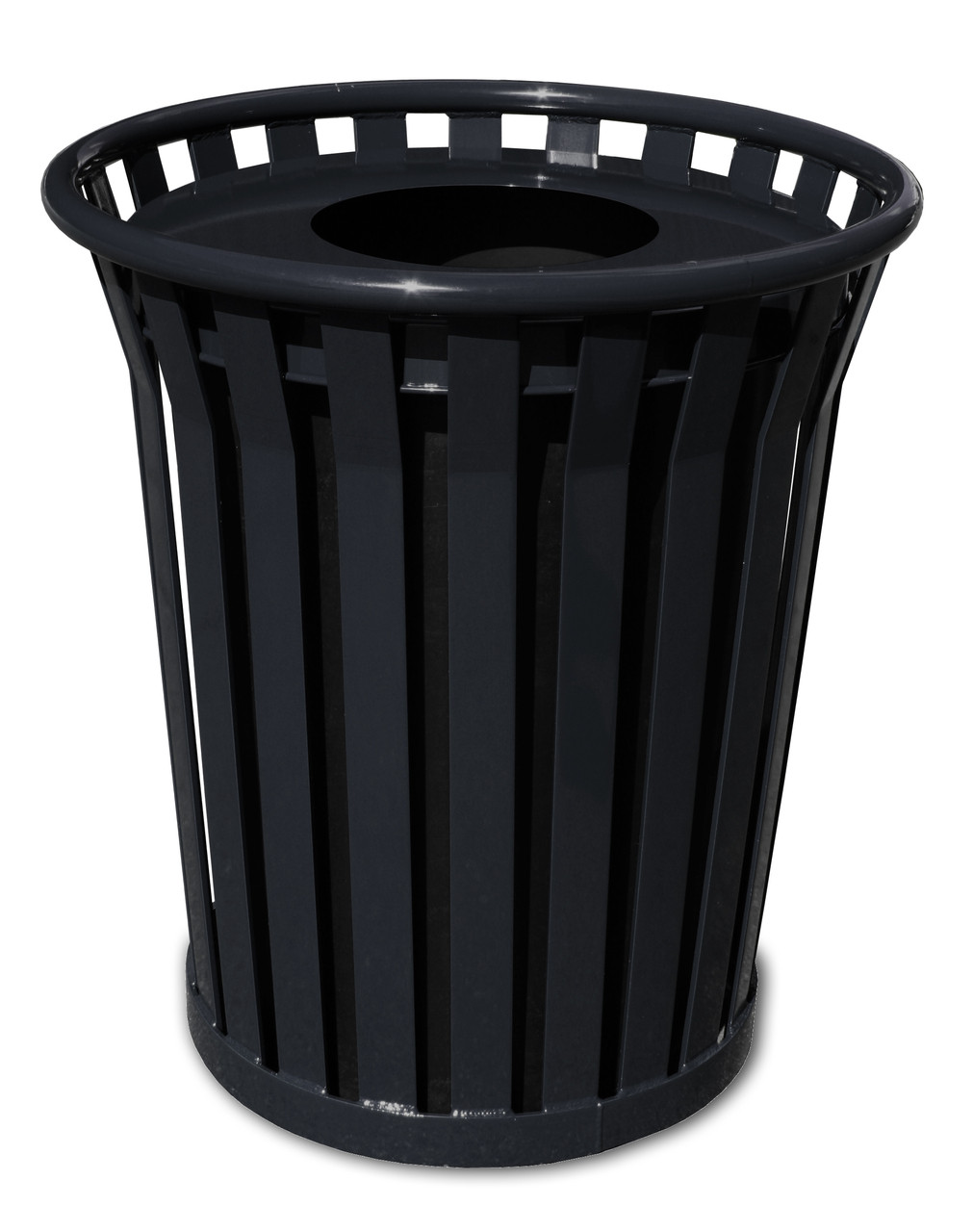 Witt 24 Gallon WC2400-FT-BK Outdoor Waste Receptacle Black