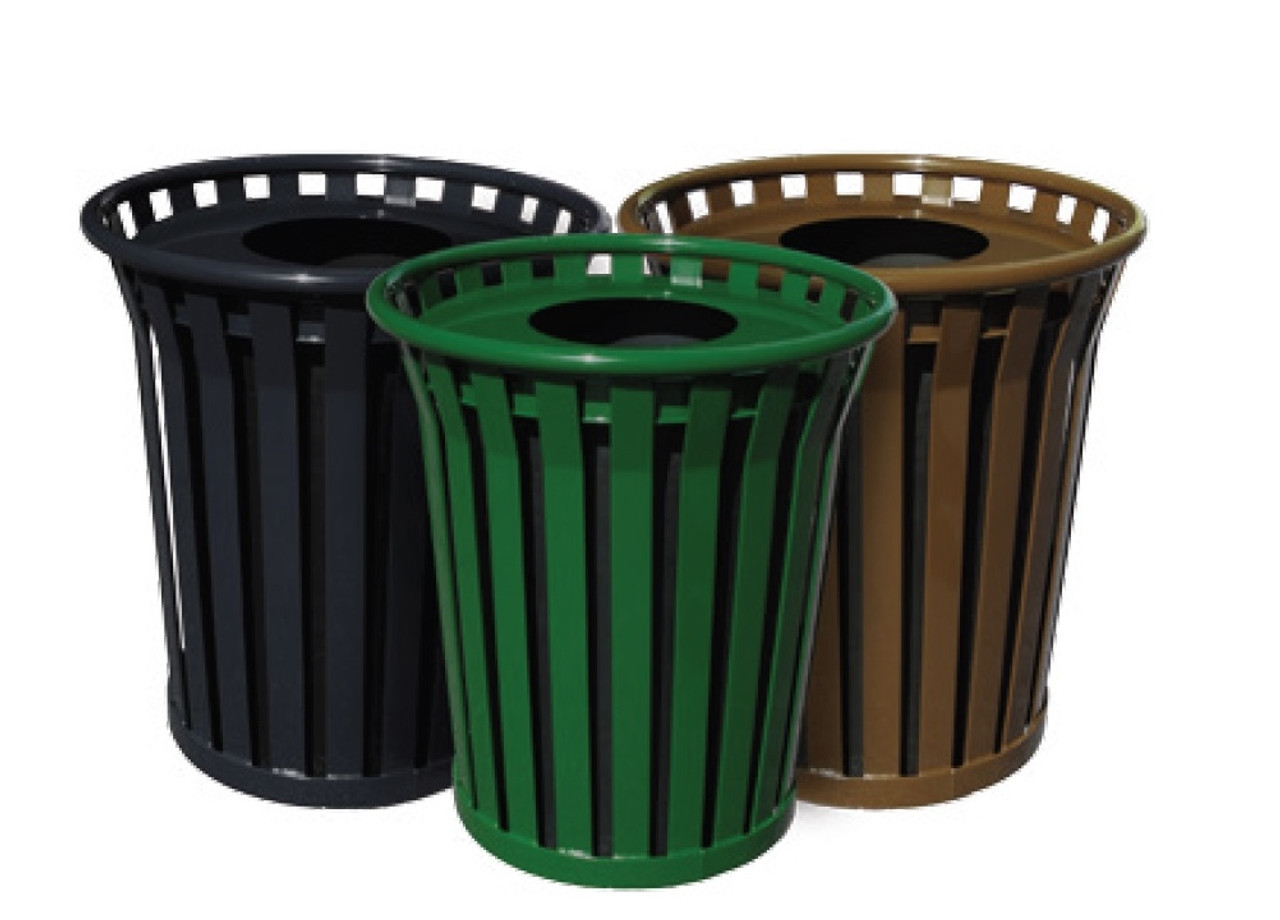 24 Gallon Witt Wydman WC2400-FT Outdoor Waste Receptacle 4 Colors
