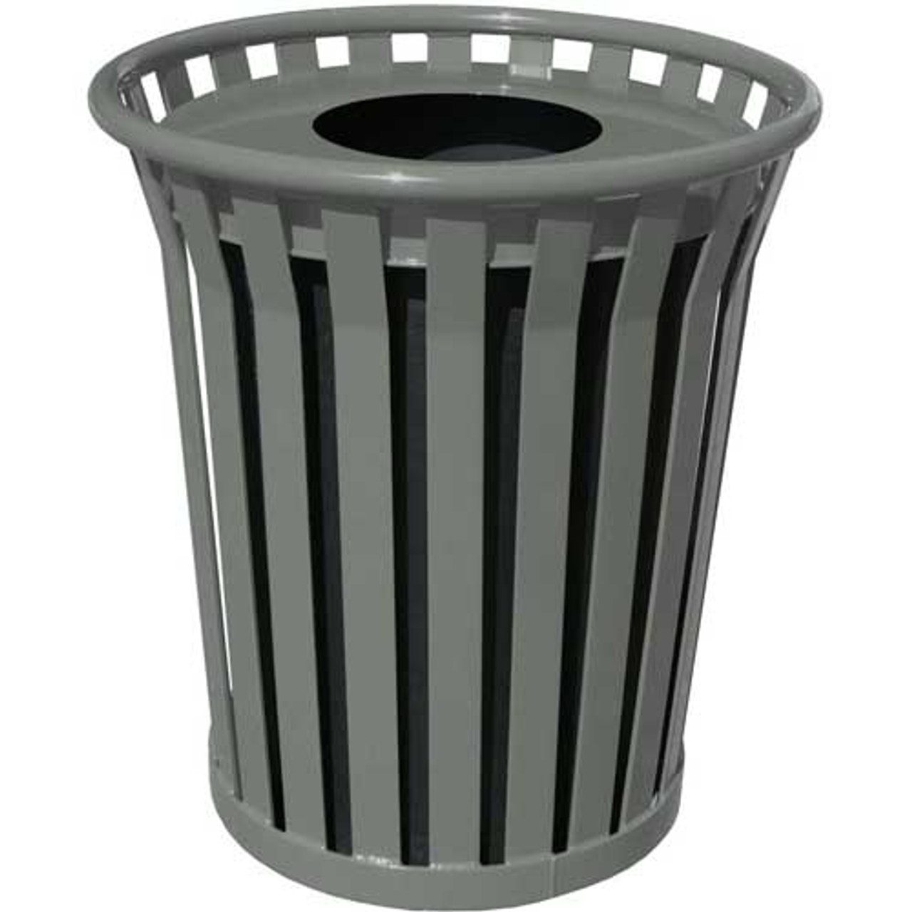 Witt 36 Gallon WC3600-FT-SLV Outdoor Waste Receptacle Silver