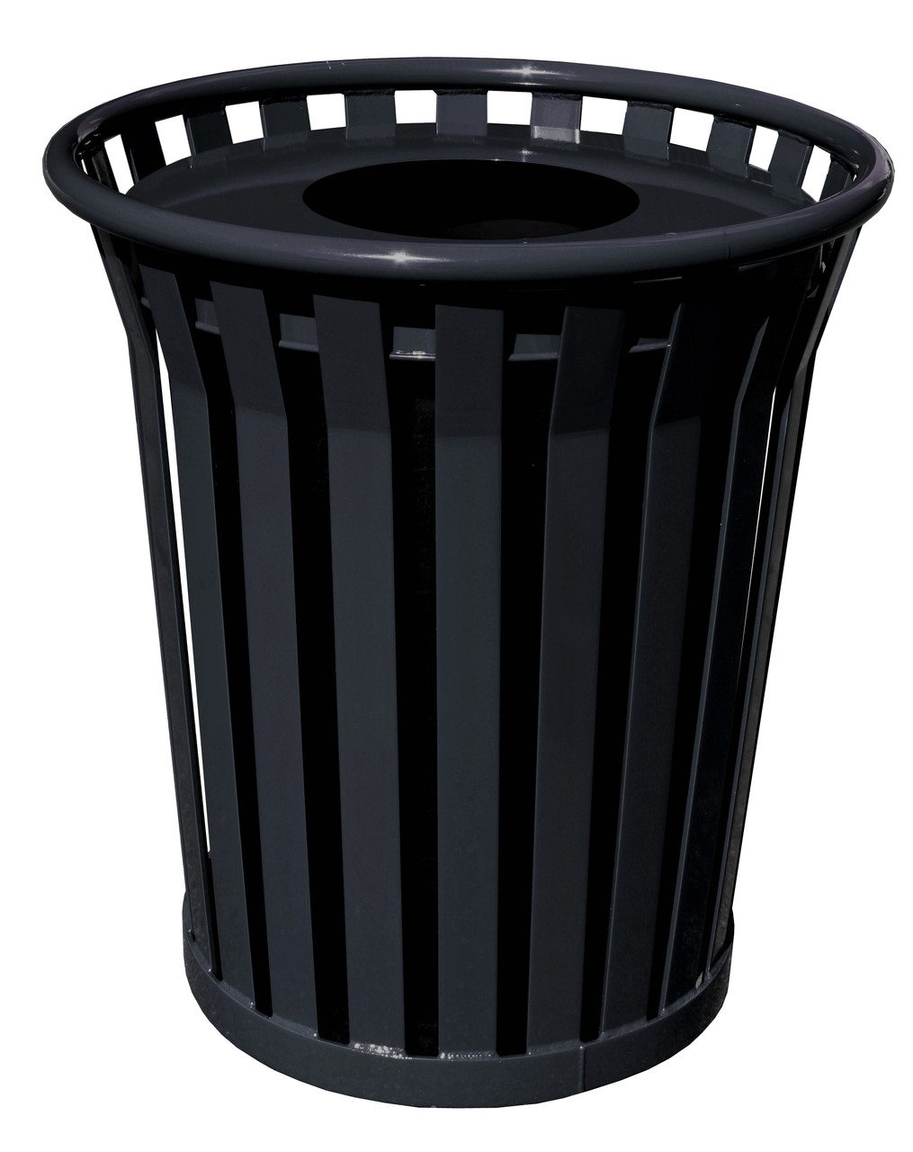 Witt 36 Gallon WC3600-FT-BK Outdoor Waste Receptacle Black